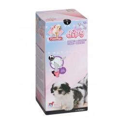 COUCHES - S 33-48 cm POUR CHIENS DIPY 12 Pièces. éducation propreté chien Flamingo FL-510585