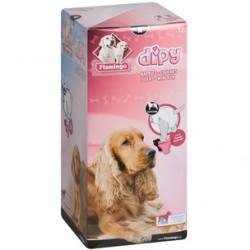 COUCHES M 40 - 60 cm POUR CHIENS DIPY 12 Pieces. éducation propreté chien Flamingo FL-510586