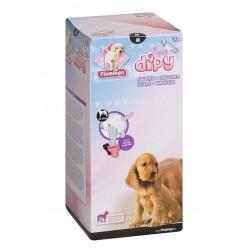 Flamingo COUCHES M 40 - 60 cm POUR CHIENS DIPY 12 Pieces. FL-510586 éducation propreté chien