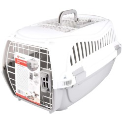 Flamingo FL-517572 Transport cage, size S 37 x 57 x h 33 cm, for dogs, grey colour Transport cage