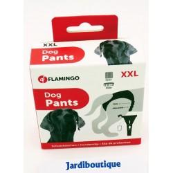 Flamingo Culotte pour chien, taille: T XXL -60 A 70 cm, couleur noire. FL-500916 Sauberkeitstraining für Hunde