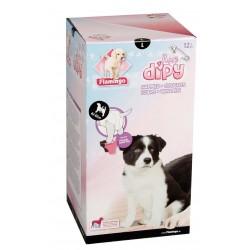COUCHES L 42 à 62 cm DIPY 12 Pieces. - POUR CHIENS éducation propreté chien Flamingo FL-510587
