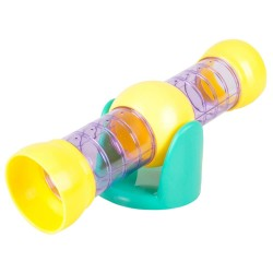TUNNEL BASCULE VIOLET YELLOW HAMSTER Tubes and tunnels Flamingo FL-210115