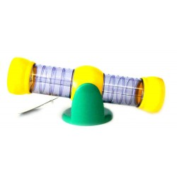 Flamingo FL-210115 TUNNEL TILTS PURPLE YELLOW HAMSTER YELLOW Pipes and tunnels