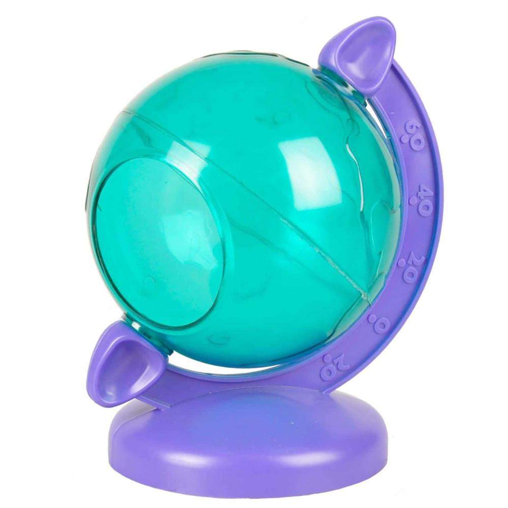 FL-210116 Flamingo Globe Terrestre vert violet pour petit rongeur Juegos, juguetes, actividades