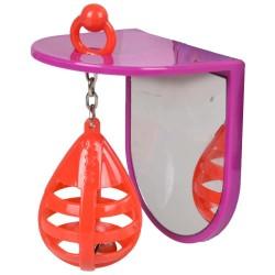 Flamingo JOUET POUR PERRUCHE PUNCHING BALL + MIROIR FL-110109 Spielzeug