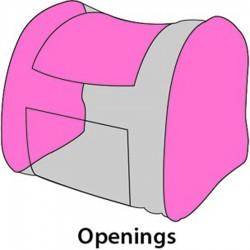 SAC A DOS LENE POUR CHIEN OU CHAT 36x32x32CM sacs de transport Flamingo FL-518122