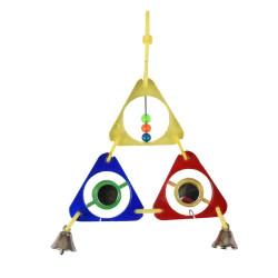 Flamingo Spielzeug für Sittich, dreieckig 11x2x16 cm. Vögel FL-110104 Spielzeug