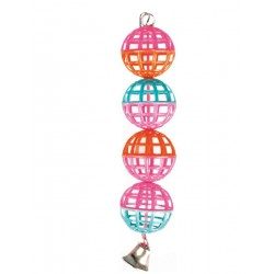 FL-100318 Flamingo Juguete para pájaros con pelotas de espejo y escalera Juguetes