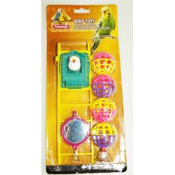 Jouet pour oiseaux miroir balles et échelle Jouets Flamingo FL-100318
