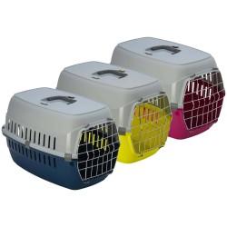 Dog or Cat transport cage 37 x 55 x 55 x H 35 cm - random color. Flamingo FL-506221 transport cage