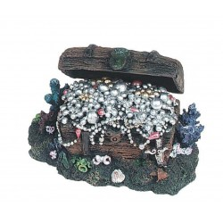 Decoration of pirate treasure chest (movement with air) 14 x 9 x 8,5 cm, aquarium Decoration and other Flamingo FL-400997
