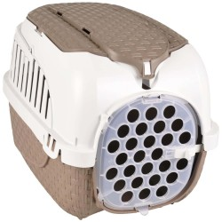Bama pet Transport cage, Taupe tower. size XS. 33 X 52 X 34 cm. for small dogs or cats Transport cage