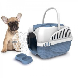 Bama pet Transport cage. Blue tower. size XS. 33 X 52 X 34 cm. for cat or dog. Transport cage