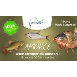 novealand Primer per la pesca a basso contenuto di insetti 100% naturale - 110 grammi GR2-110-PE Pesca ed esche