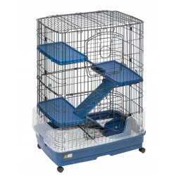 Flamingo FL-208077 TOWER M. cage for ferret and rodent. 70 by 45 by 92 cm Height. Cage