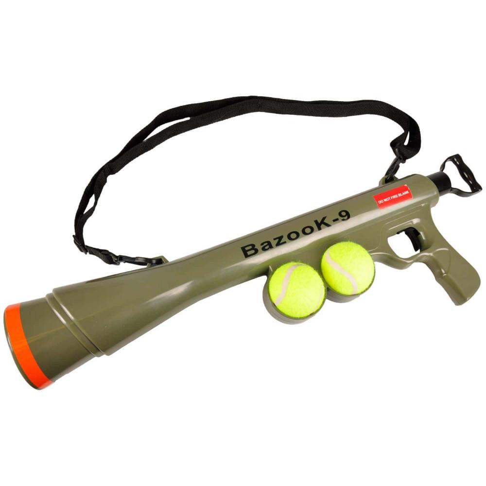 FL-517029 Flamingo Lanceur de Balle avec 2 Balles de Tennis Jouet pour Chiens Jeux