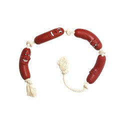 Flamingo FL-45108 Dog toy - Rosary of vinyl sausages 70 cm Jeux