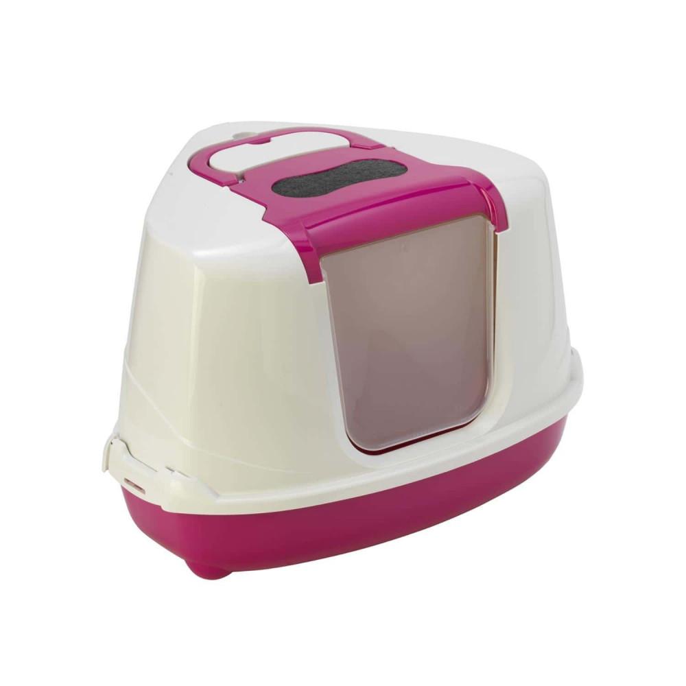 """Maison de toilette """"Flip"""" d'angle hawai pour chat couleur aléaoire Maison de toilette Flamingo FL-560034"""