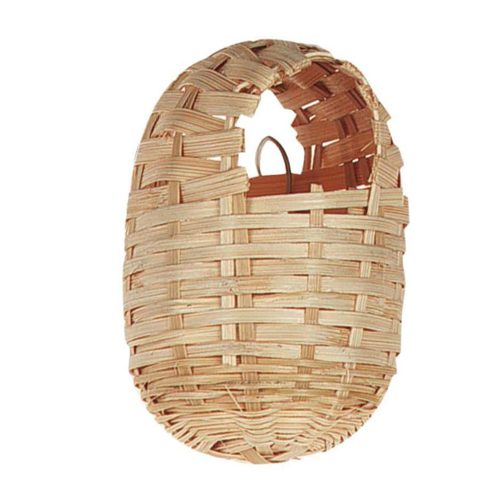 Nid Exotique Bambou pour Oiseau 10 x 12 cm Cages, volières, nichoir Flamingo FL-100019