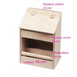 Mangeoire en Bois Volière pour Oiseaux 16 cm Cages, volières, nichoir Flamingo FL-100101