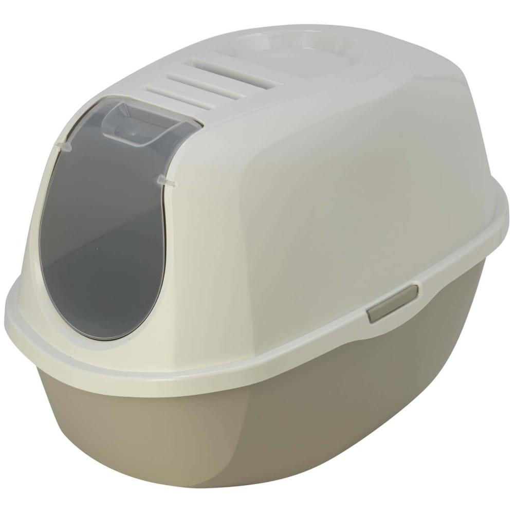 Flamingo Maison de toilette Plato gris L 39 x 55 x 41 cm pour chat FL-560724 Maison de toilette