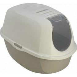 Maison de toilette Plato gris L 39 x 55 x 41 cm pour chat Maison de toilette Flamingo FL-560724
