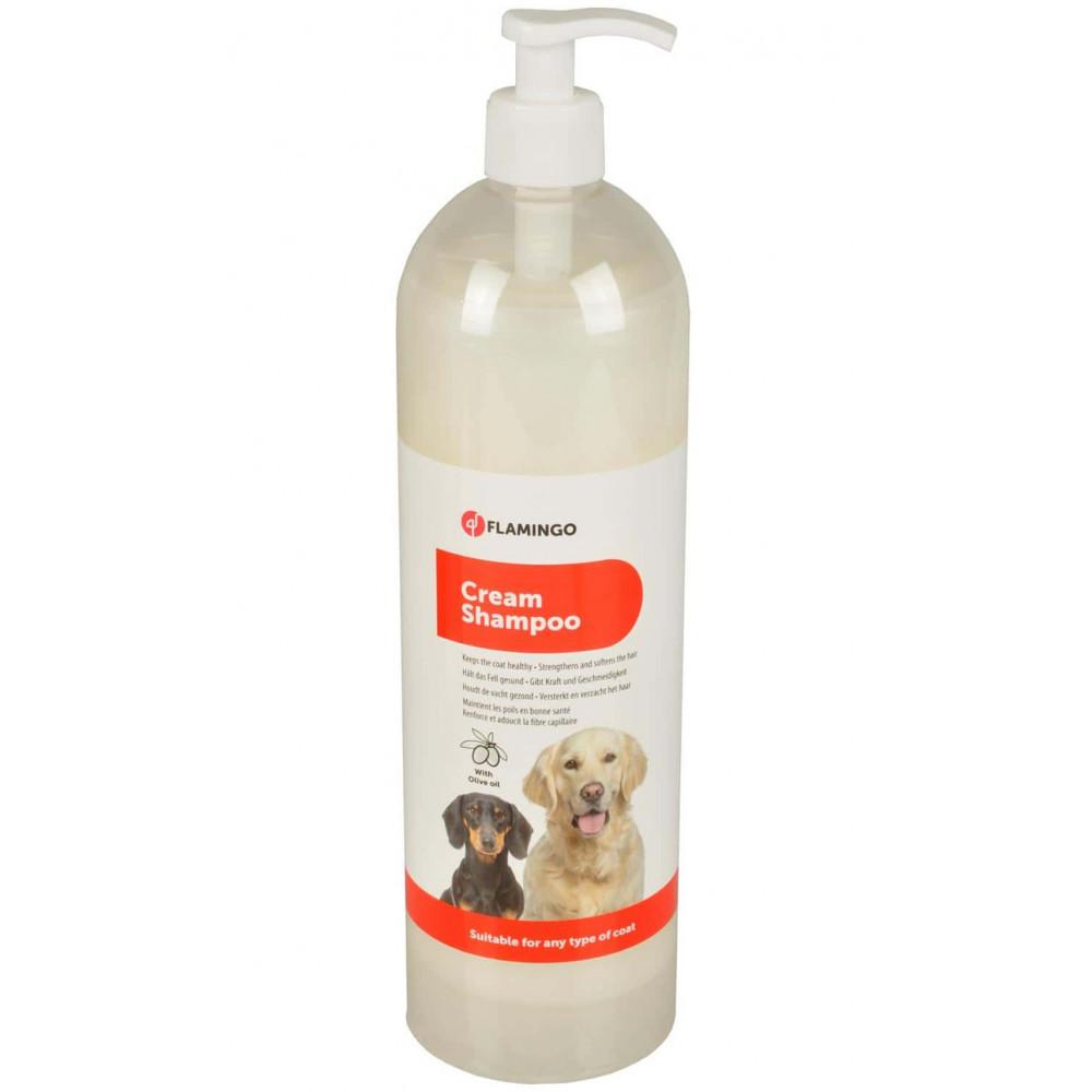 Shampoing Crème 1000 ml pour chien Shampoing Flamingo FL-1030844