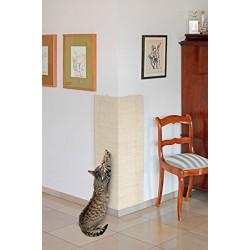 Planche Grattoir Sisal pour Chat Beige 28 x 52 cm + catnip Griffoirs et grattoir Flamingo FL-5346242
