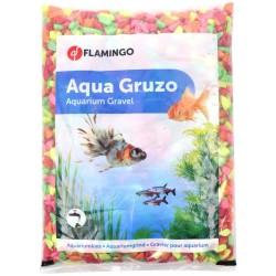 FL-410087 Flamingo Grava brillante Arco iris de neón 1 kg de acuario Suelos, sustratos, sustratos
