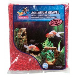 Flamingo FL-400434 Red neon gravel 1 kg for aquarium Soils, substrates, substrates