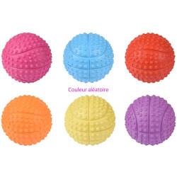 1 Balle en caoutchouc ø 5.5 cm pour chien. couleur aléatoire Jouet Flamingo FL-517938