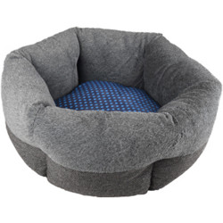 Dotties basket ø 53 x 18 cm grey blue for cat Flamingo bed FL-519433