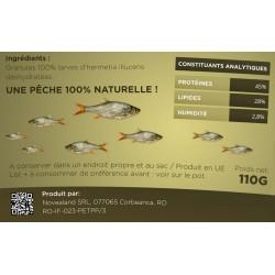novealand Grundierung für insektenarmes Fischen 100% natürlich - 110 Gramm GR2-110-PE Fischerei und Köder