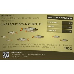 Pitch for low insect fishing 100% natural - 110 grams Peaches and baits novealand GR2-110-PE