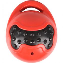 Balle Brutus + poignée rouge noir 14 cm pour chien Jouet Flamingo FL-519508