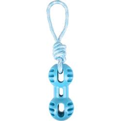 Jouet Haltère + corde à tirer bleu 34.5 cm Rudo TPR pour chien Jouet Flamingo FL-519499