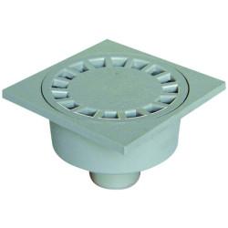 Interplast Siphon de sol 100X100 mm, couleur gris clair- ø 40 mm. IN-SASSIP10540G Plomberie