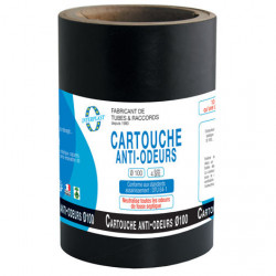 Cartouche anti-odeurs Ø100 pour fosses septiques, poste de relevage, toutes eaux Plomberie Interplast IN-SCARTFOSS