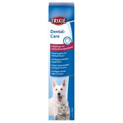 Gel d'hygiène dentaire au goût bœuf 100G Soin et hygiène  Trixie TR-25446