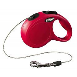 Flexi max 8 kg cordon 3 m. Laisse Flexi rouge pour chat FL-560663 Collier, laisse, harnais