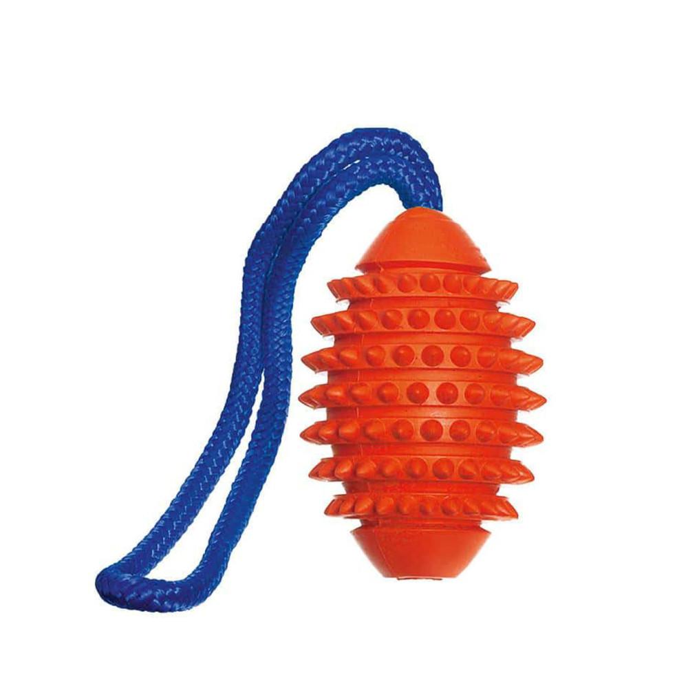 Karlie Aqua football ruffus ball 11 cm orange for dog Jeux cordes pour chien