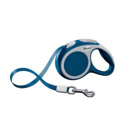 Flexi max 12 kg, ruban 3 m. Laisse Fléxi Vario bleu pour chien. FL-1032284 laisse chien