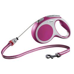 Max 20 kg cordon 5 m. Laisse Flexi Vario rose pour chien laisse chien Flexi FL-1032269