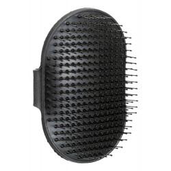 Brosse caoutchouc 8 × 13 cm noir pour animaux Soin et hygiène  Trixie TR-2330